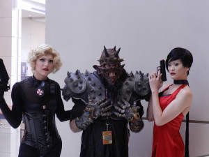 "GWAR's Oderous and two hot ""women"" who I'm certain are dudes."
