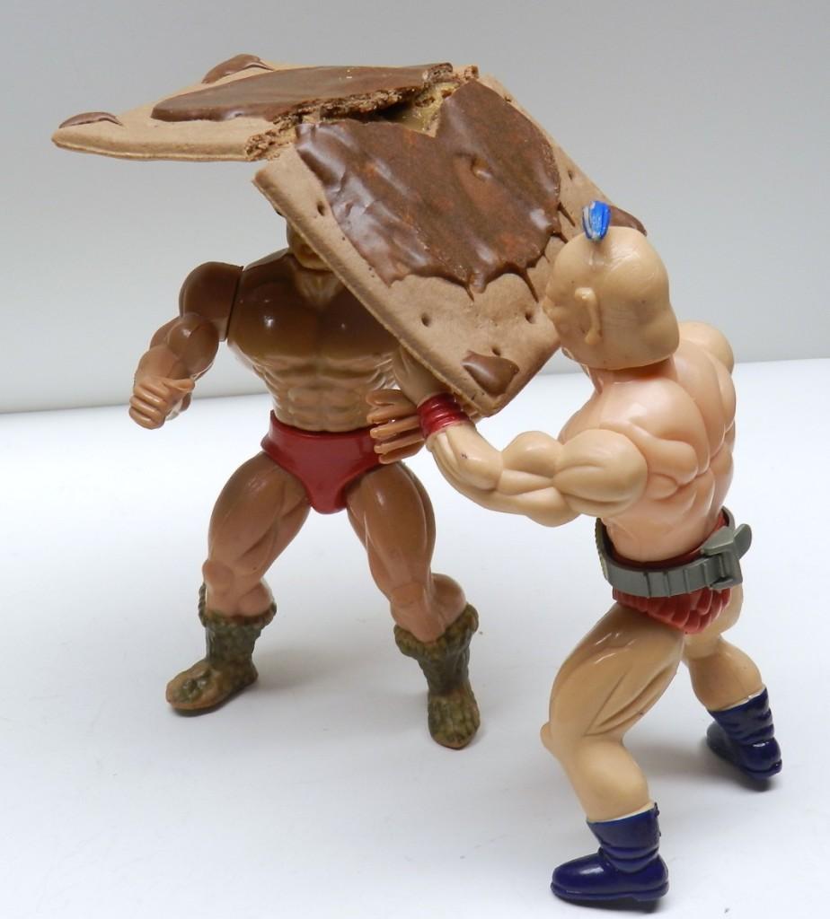Breaking a table in wrestling