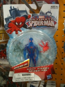 Translucent Spiderman figure